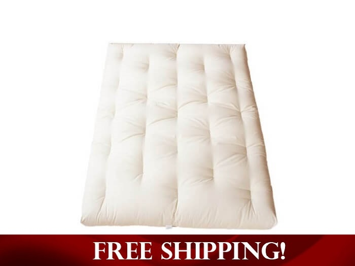 All Green Cotton Futon With Optional Fire Ant