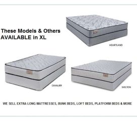 *TWIN XL AND FULL XL MATTRESSES - EXTRA LONG