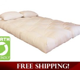 GREEN COTTON AND WOOL DREAMTON MATTRESS - 6 INCH