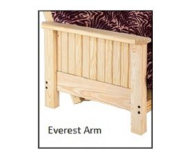 Futon Frame - Twin, Full, Queen Avail - Everest Armrest starting at