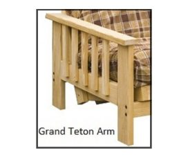 Futon Frame - Twin, Full, Queen Avail - GrandTeton Armrest starting at