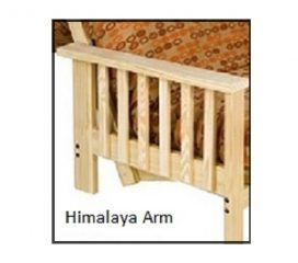 Futon Frame - Twin, Full, Queen Avail - Himalaya Armrest starting at