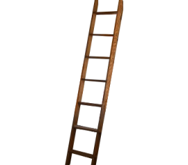 SOLID OAK CUSTOM WOODEN LADDER
